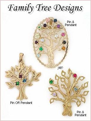 Family tree pendants pins aloadofball Choice Image
